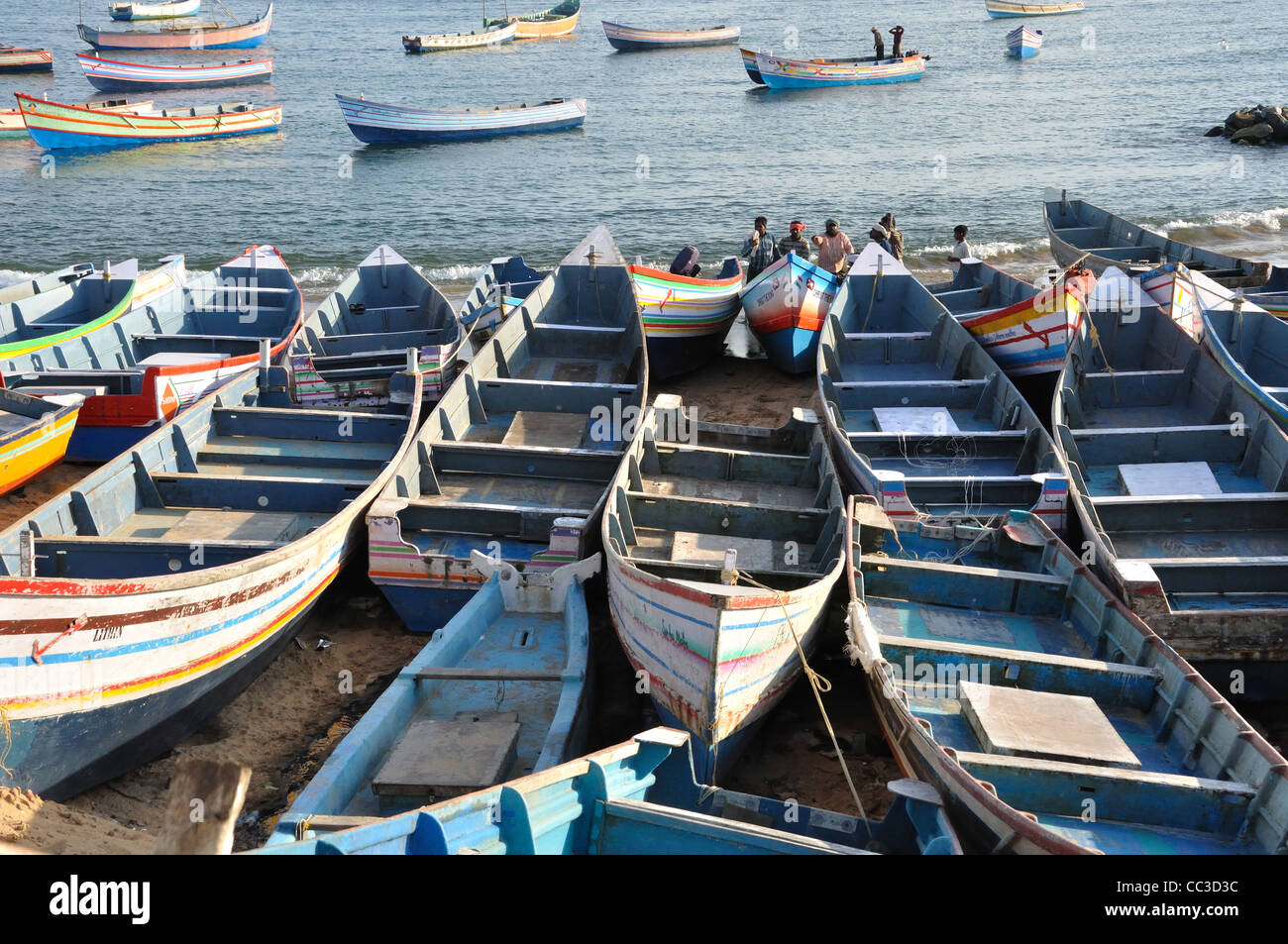 Vizhinjam Fishing Harbour - Stock Image