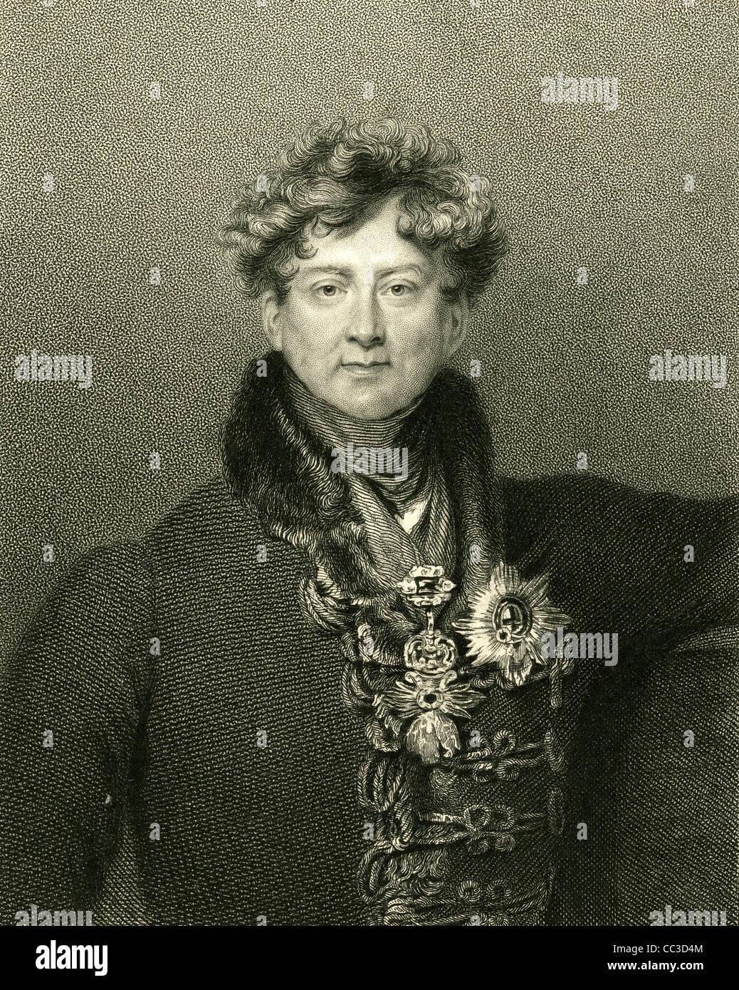 1830 engraving, King George IV. - Stock Image