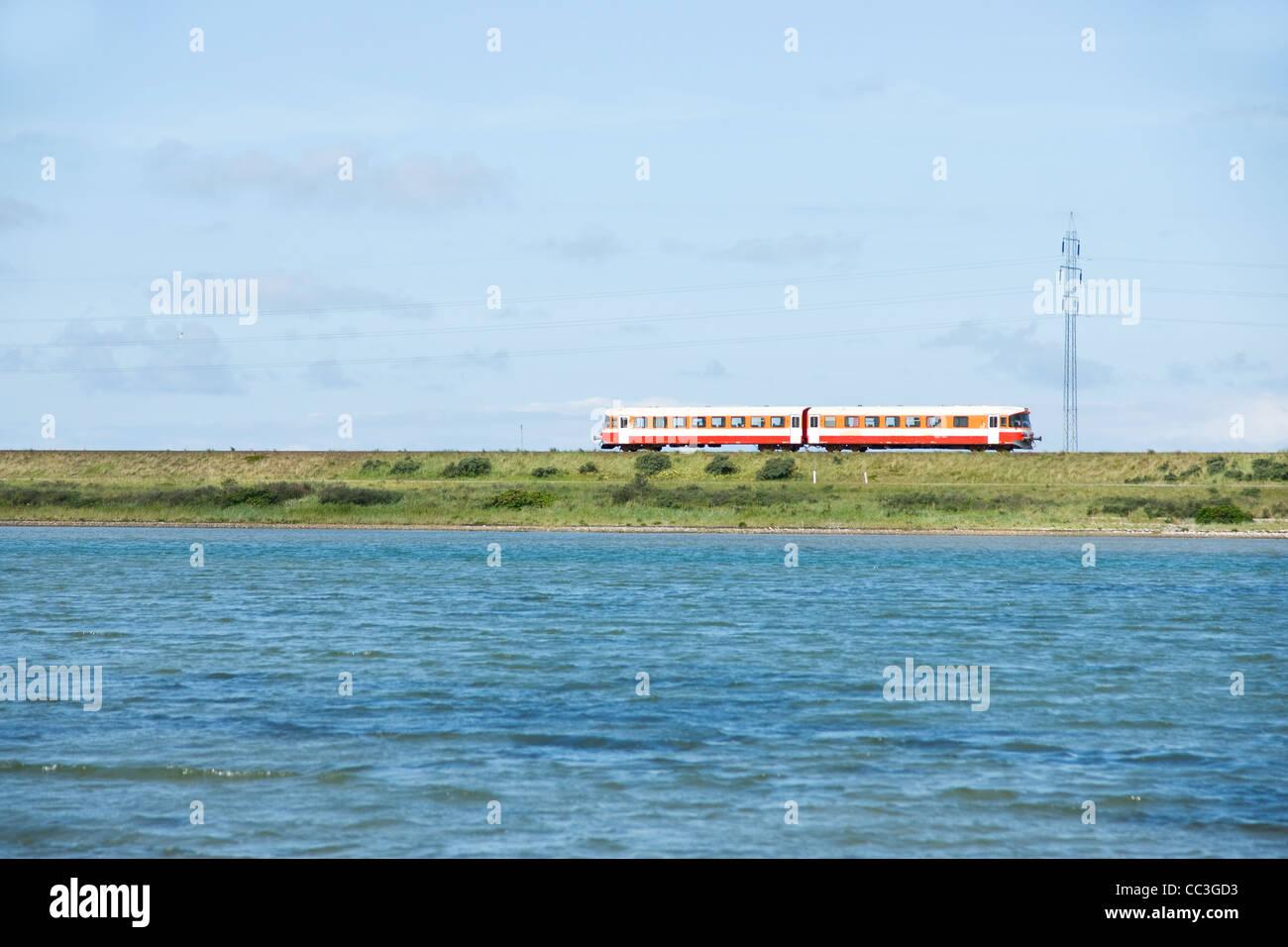 Small train in Denmark - Stock Image