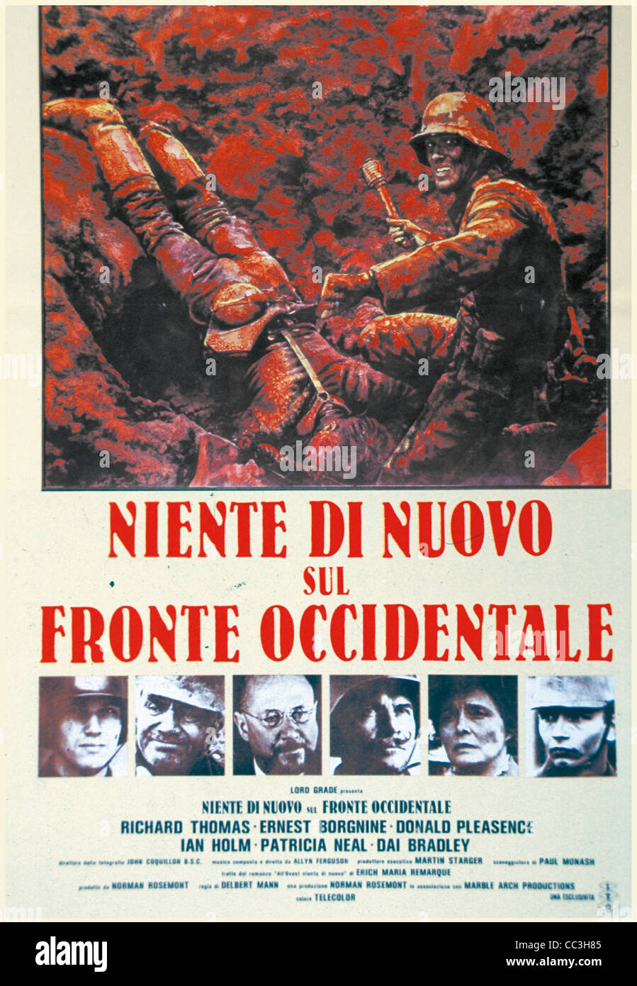 Cinema: All Quiet On The Western Front 1979 Director Delbert Mann Poster - Stock Image