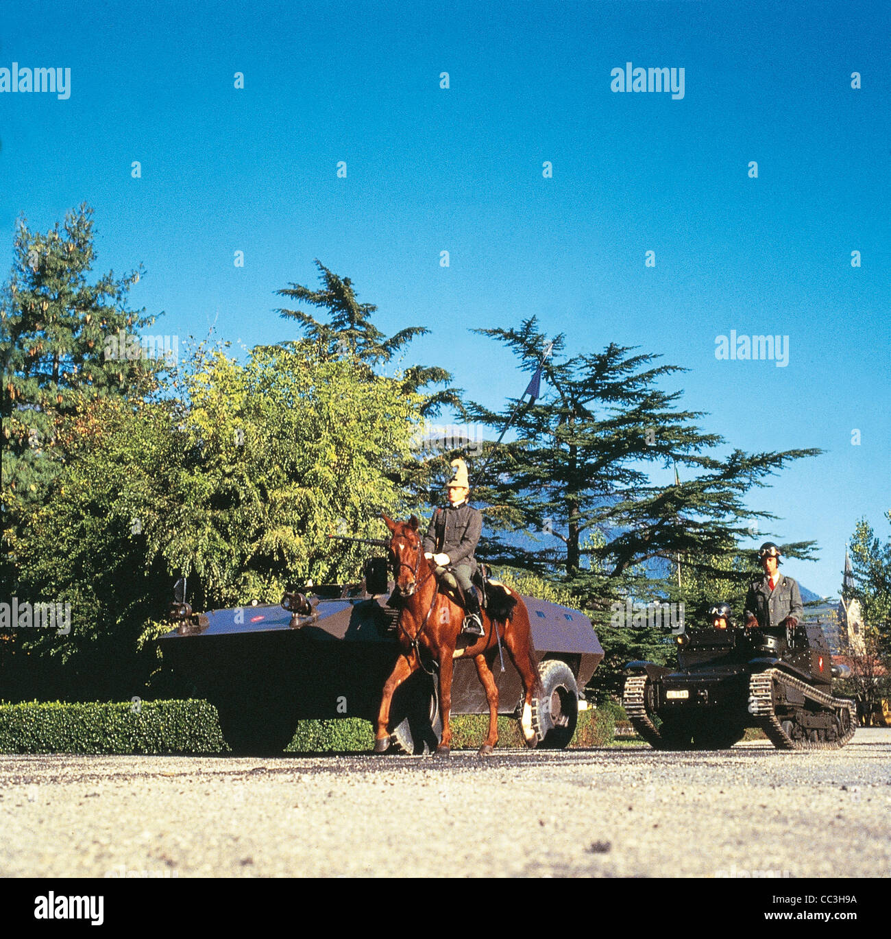 Military Vehicles 20th Century Italy Armored Fiat Iveco 6614 Eighties Party Of Cavalry Pistol Iveco Fiat 6614 L3 - Stock Image