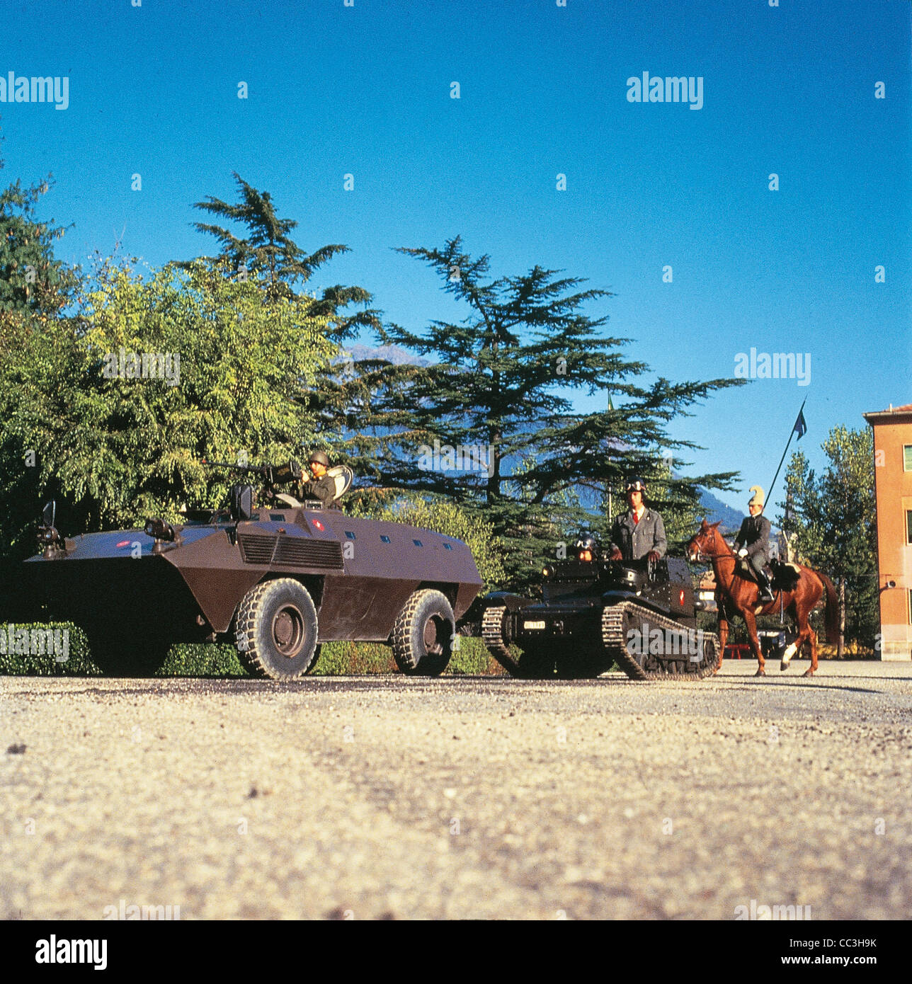 Military Vehicles 20th Century Italy Armored Fiat Iveco 6614 Eighties Party Of Cavalry Pistol Iveco Fiat 6614 L3 Stock Photo