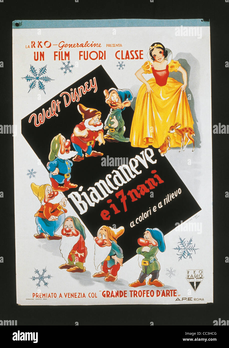 Film Posters: Snow White And The Seven Dwarfs - Stock Image
