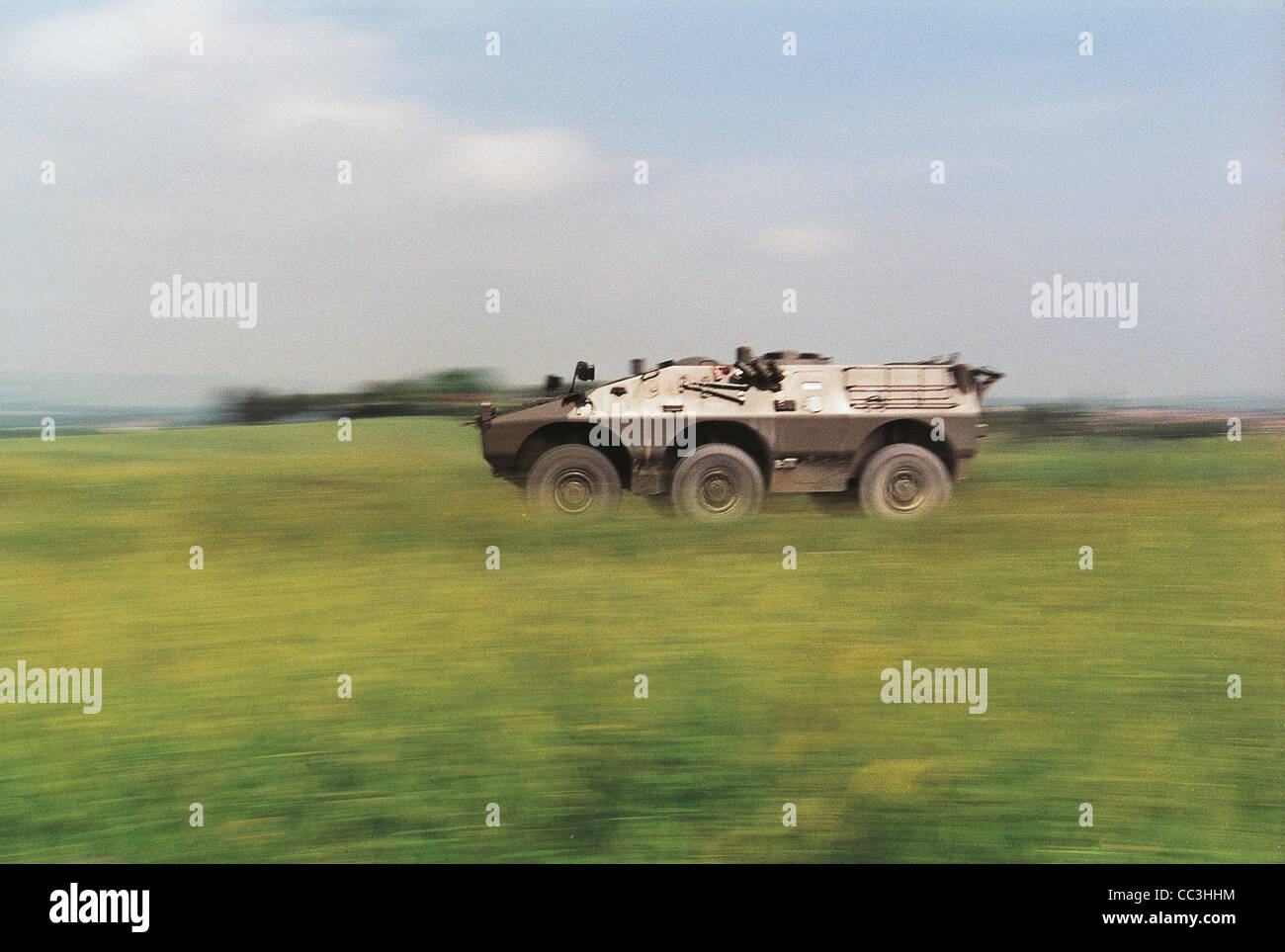 Military Vehicles 20th Century Italy Puma 6X6 Armored Nineties - Stock Image