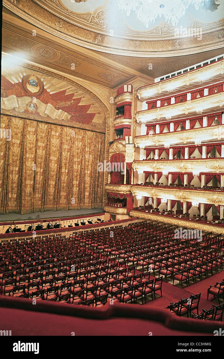 Russia 20th Century - The Eighties - Moscow - Bolsoj Theatre (Teatr Bolshoi, 1856). Internal - Stock Image