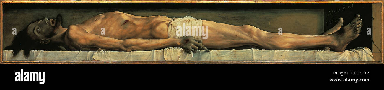 Hans Holbein The Younger Christ In The Tomb 1521 - Stock Image