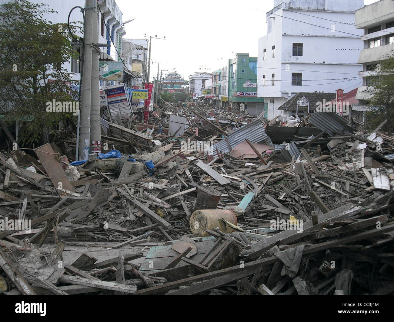 Indonesia Banda Aceh The Effects Of The Tsunami In December 2004 Stock Photo Alamy