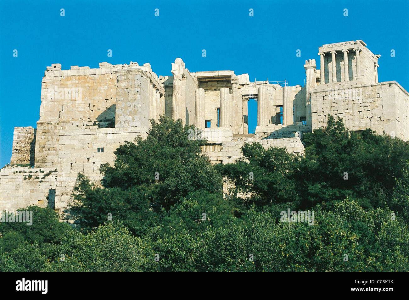 Greece - Attica - Athens. Acropolis. Propylaea Stock Photo