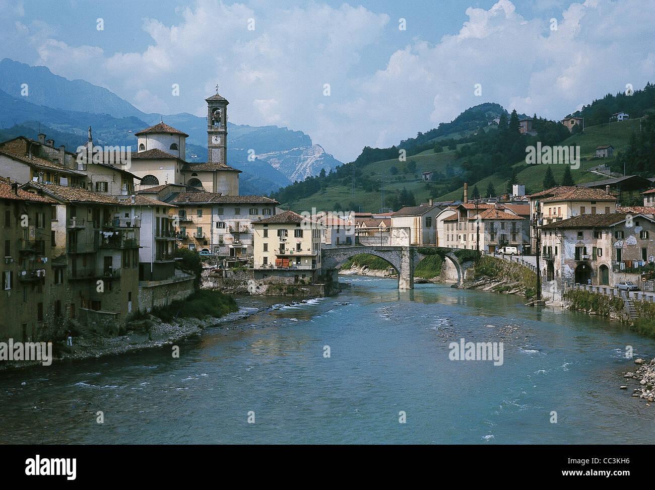 Lombardy St John White River Brembo - Stock Image