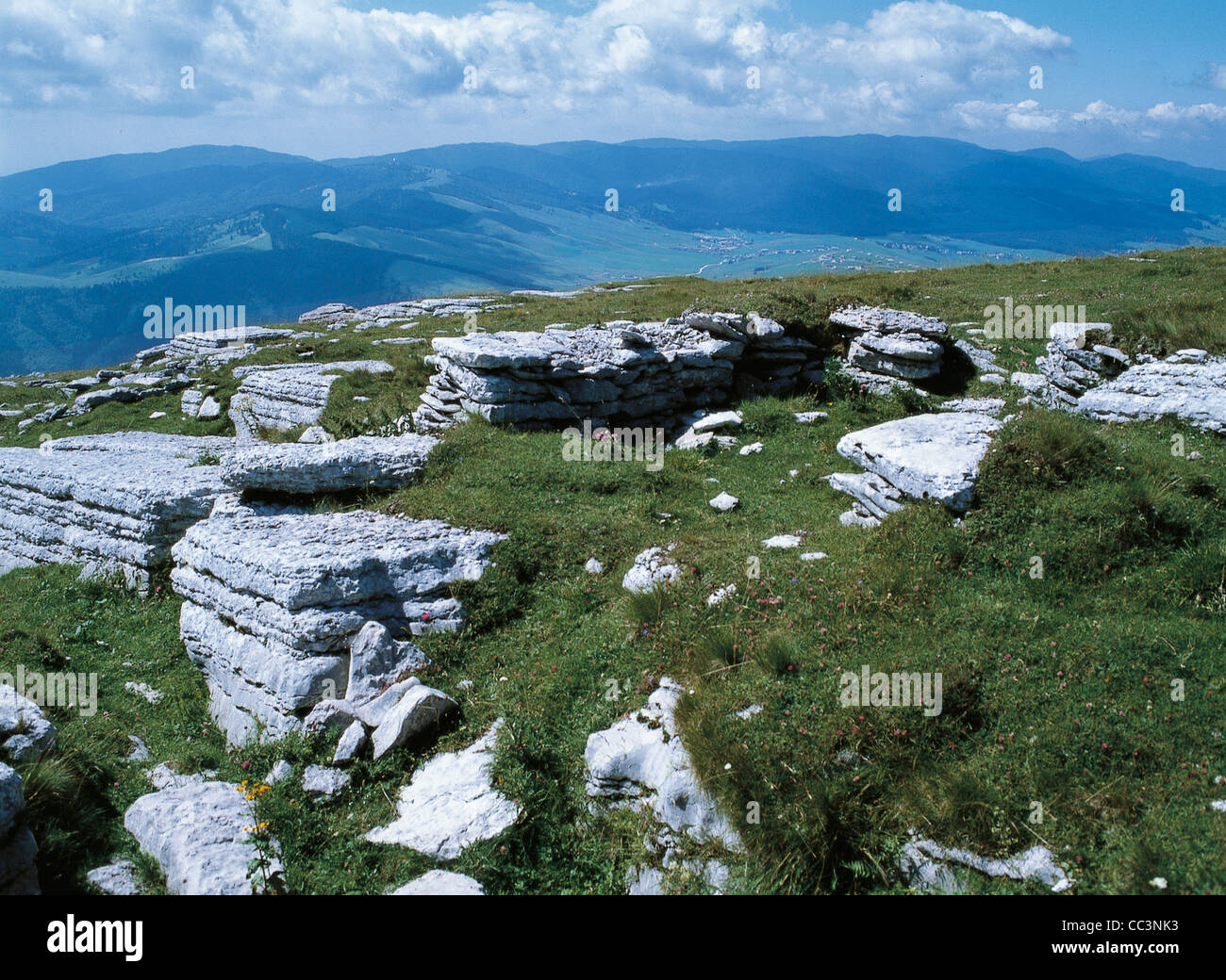 Seven Towns Of Veneto Plateau Remains Of Trenches - Stock Image