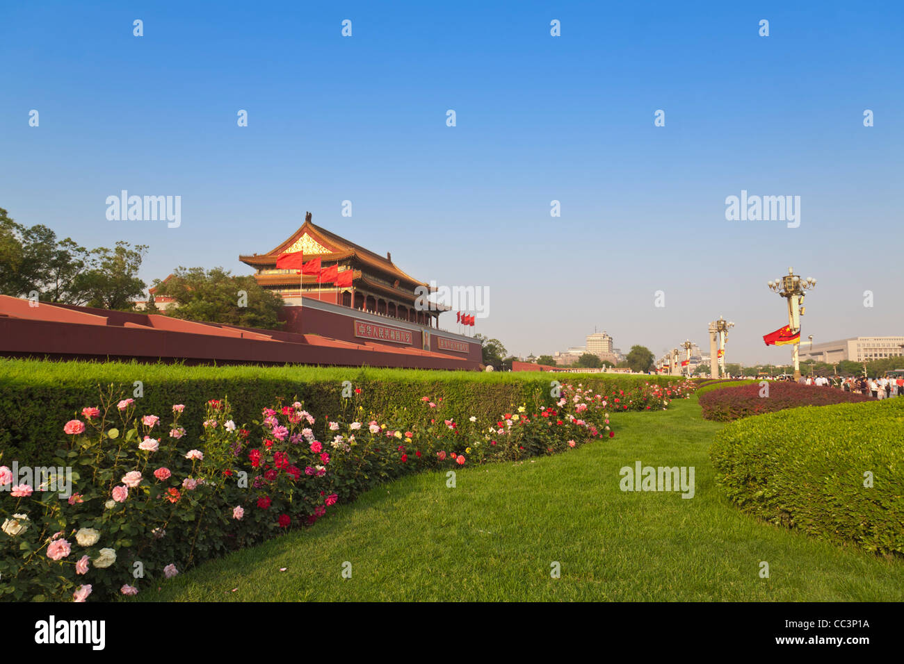 China, Beijing, Tiananmen Square, The Forbidden City. Gate of Heavenly Peace - Stock Image