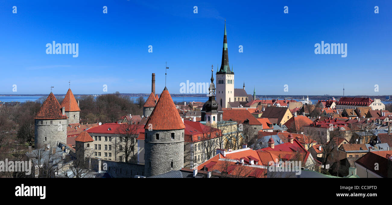 St. Olaf's church, Historic Centre (Old Town), Tallinn, Estonia - Stock Image
