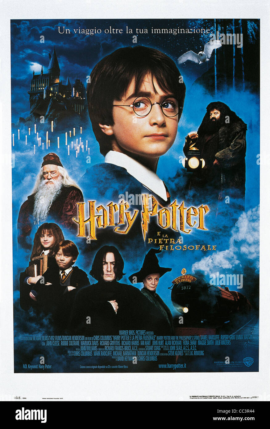 Movie Poster: Harry Potter And The Sorcerer's Stone (Harry Potter And The Sorcerer's Stone), 2001, Directed - Stock Image