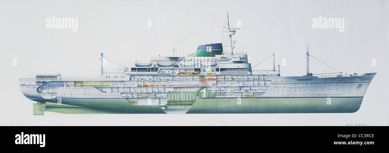 "Ships, The Twentieth Century - Hospital Ship ""Anastasis"" Of Mercy Ships, Maritime Division Of The Organization Youth Stock Photo"