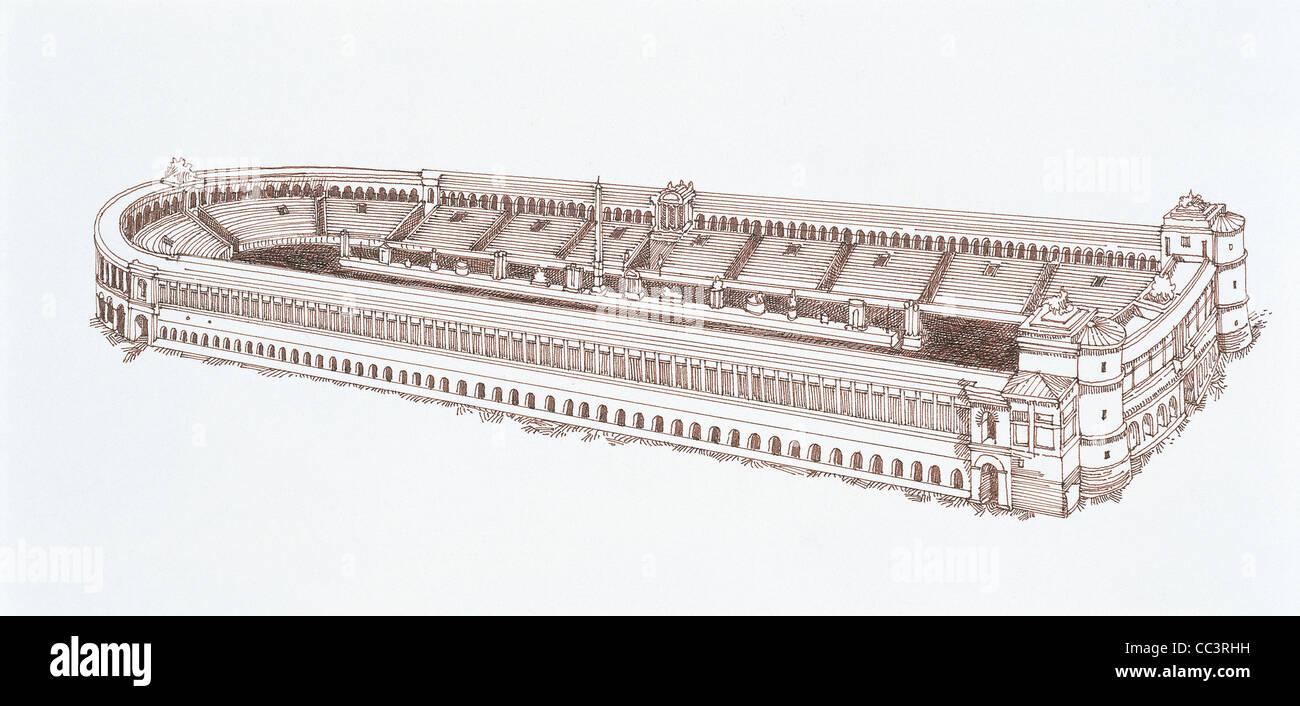Ancient Rome Design Circus Maximus - Stock Image
