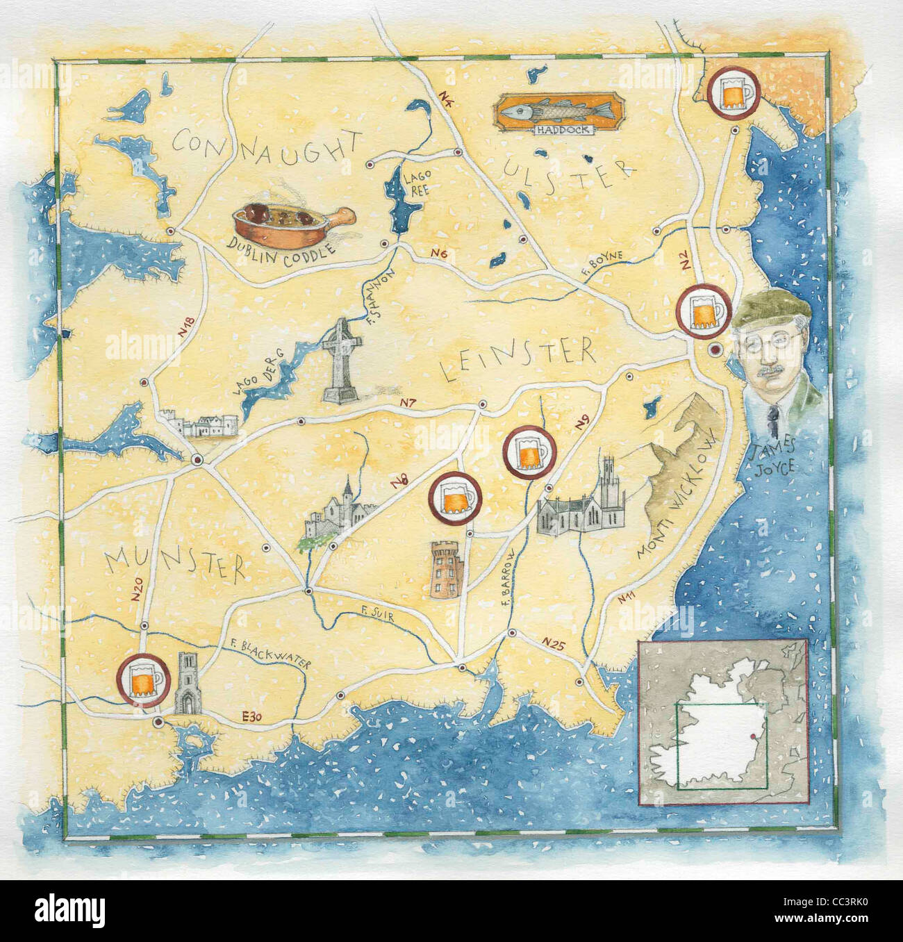 Map Of Ireland Drawing.Map Ireland Drawing Stock Photos Map Ireland Drawing Stock Images