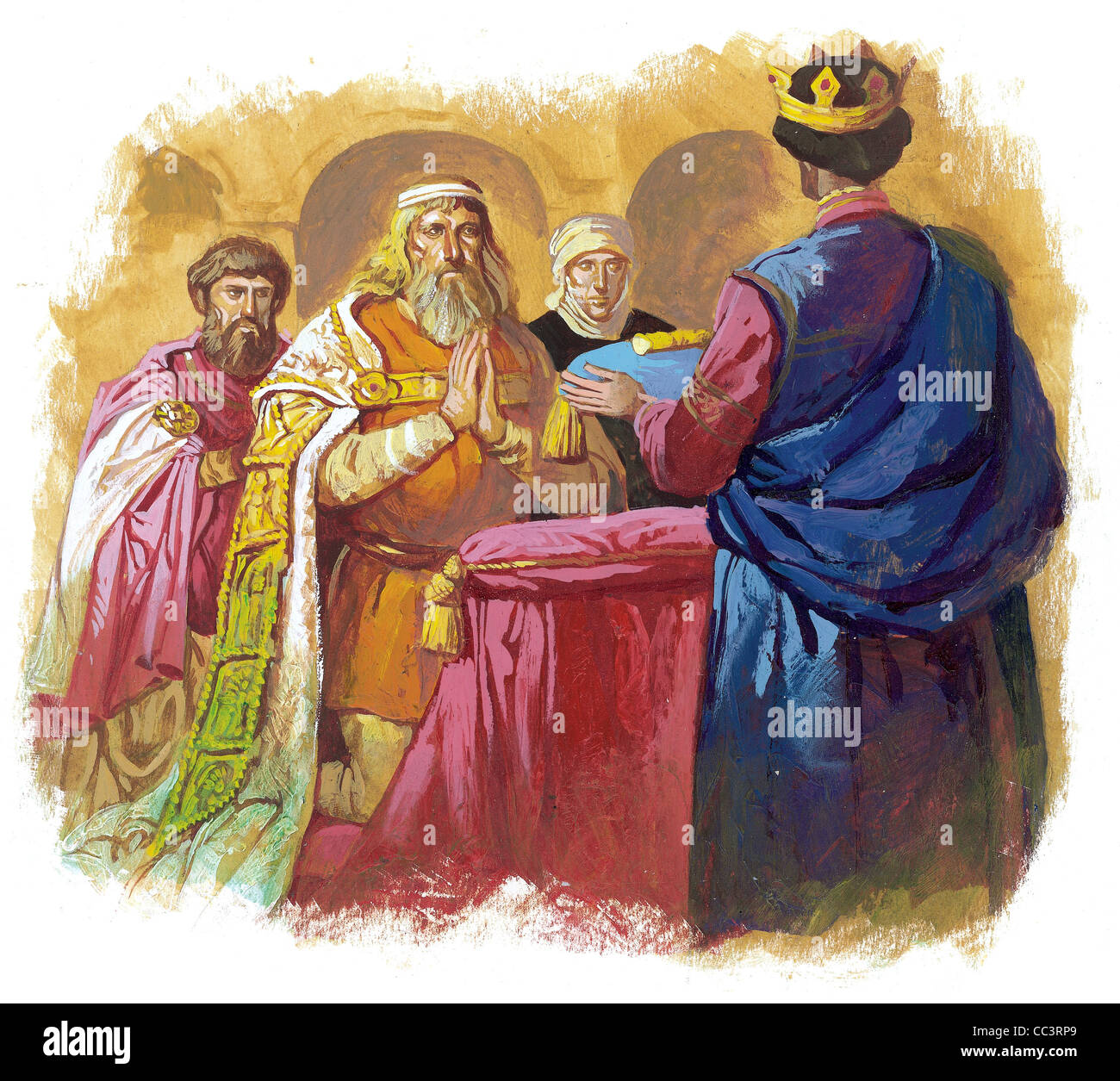 Germany, The Thirteenth Century. Rudolf I Habsburg (1216-1291), Crowned King Of Germany And Emperor Of The Holy Stock Photo