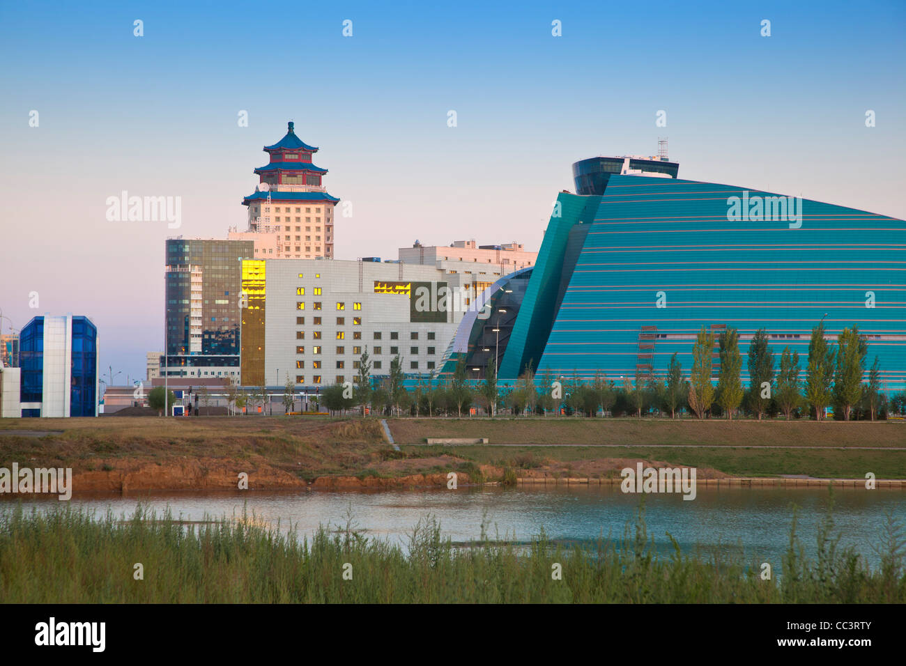 Kazakhstan, Astana, View of city skyline - Stock Image
