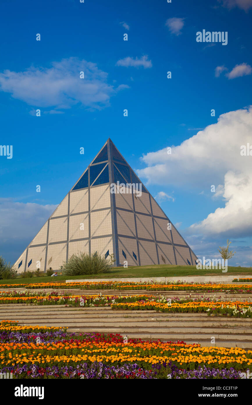 Kazakhstan, Astana, Palace of Peace and Reconciliation pyramid designed by Sir Norman Foster - Stock Image