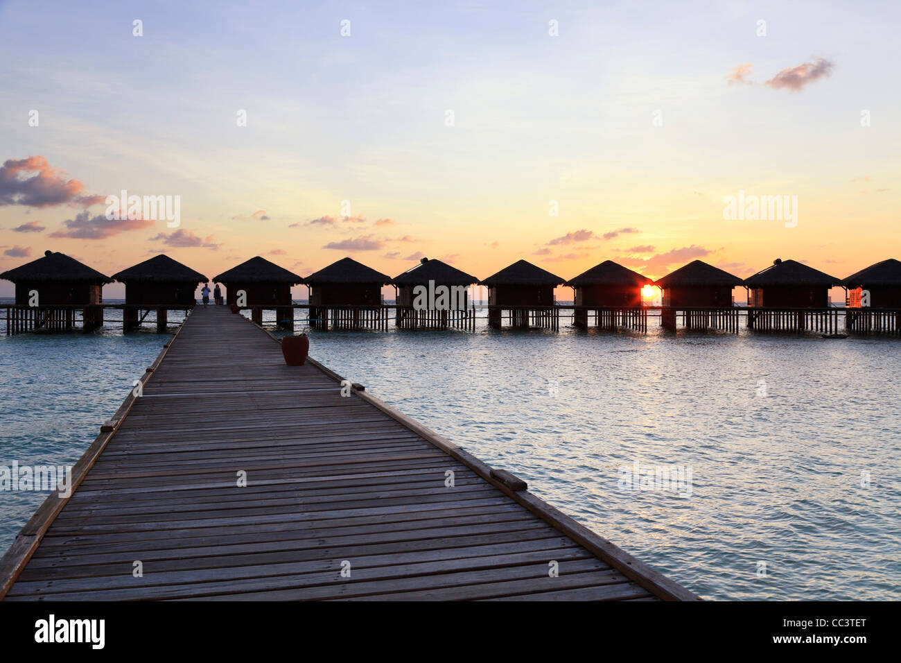 Maldives, Faafu Atoll, Filitheyo Island, Luxury Resort Stock Photo