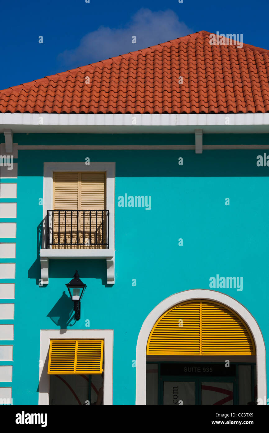Puerto Rico, North Coast, Barceloneta, Prime Outlet Shopping Mall, building detail - Stock Image