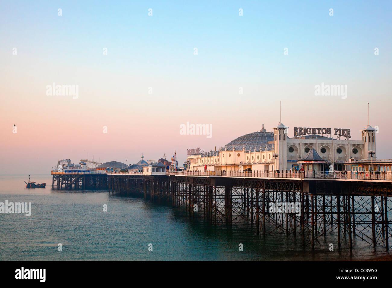 United Kingdom, England, The Brighton Marine Palace and Pier - Stock Image