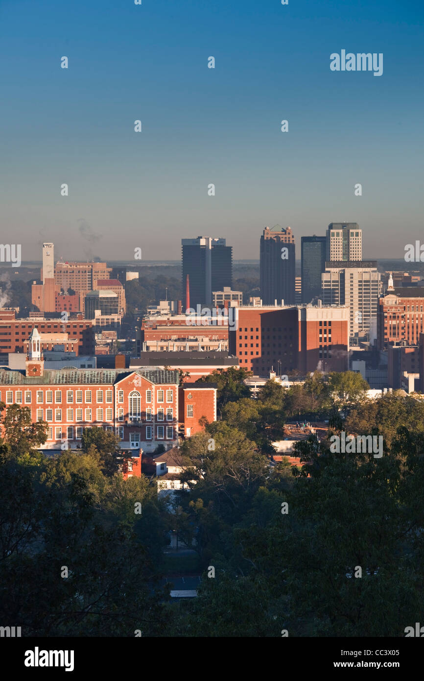 USA, Alabama, Birmingham, high angle view from Red Mountain, morning - Stock Image