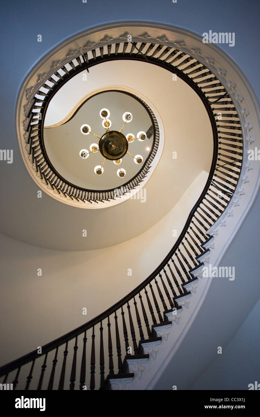 USA, Alabama, Montgomery, Alabama State Capitol, b. 1851, interior staircase - Stock Image