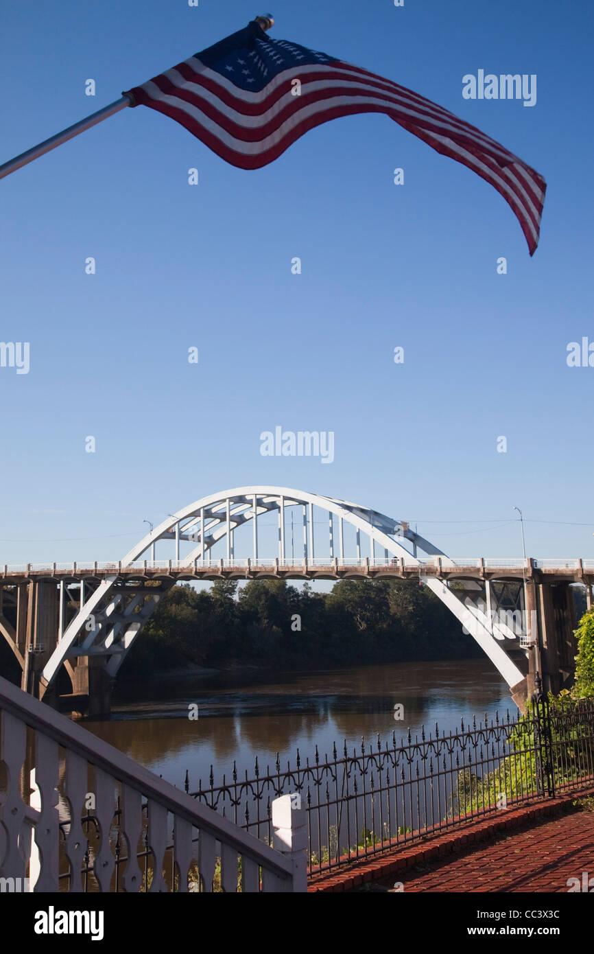 USA Alabama, Selma, Edmund Pettus Bridge, site of beginning of the Selma March during the African-American Civil - Stock Image