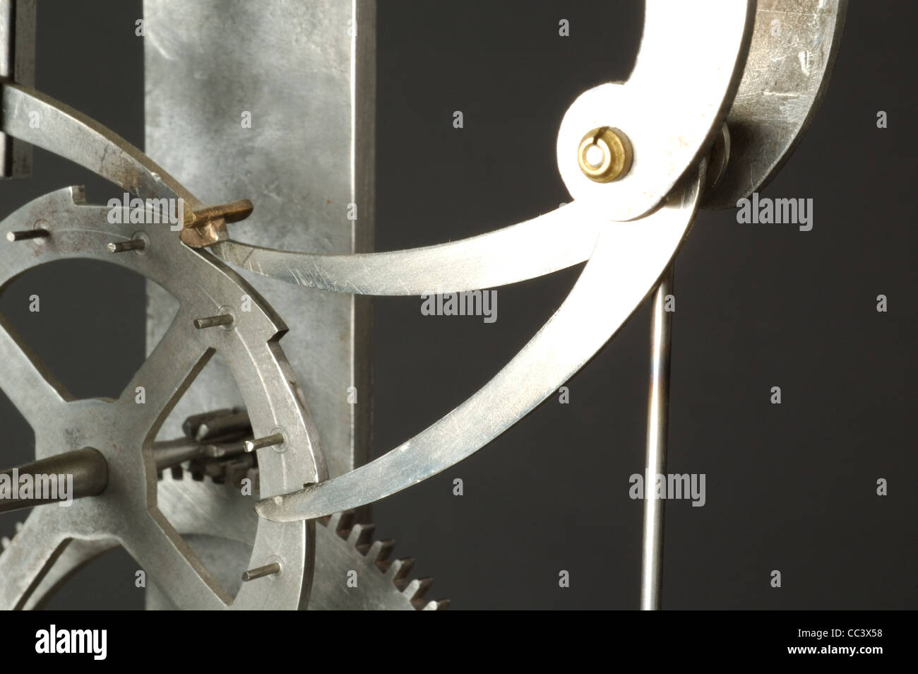 Watch. Replica Of A Contemporary Grandfather Clock Built And Designed By Galileo Gali Her. Cm.34 Height, Depth 8Cm, - Stock Image