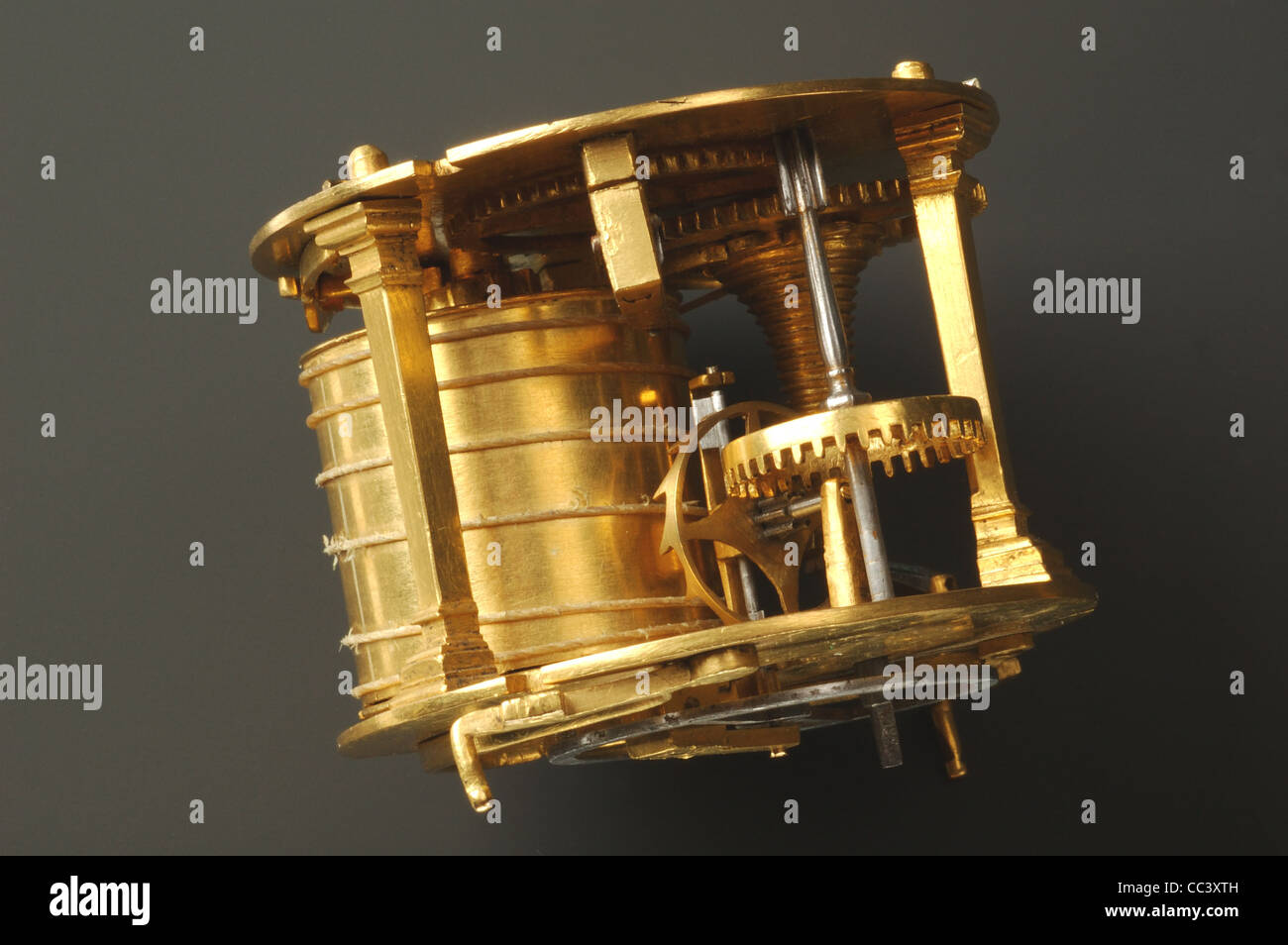 Watches Sixteenth Century. atch Drummer Brass Dated 1558 - Stock Image