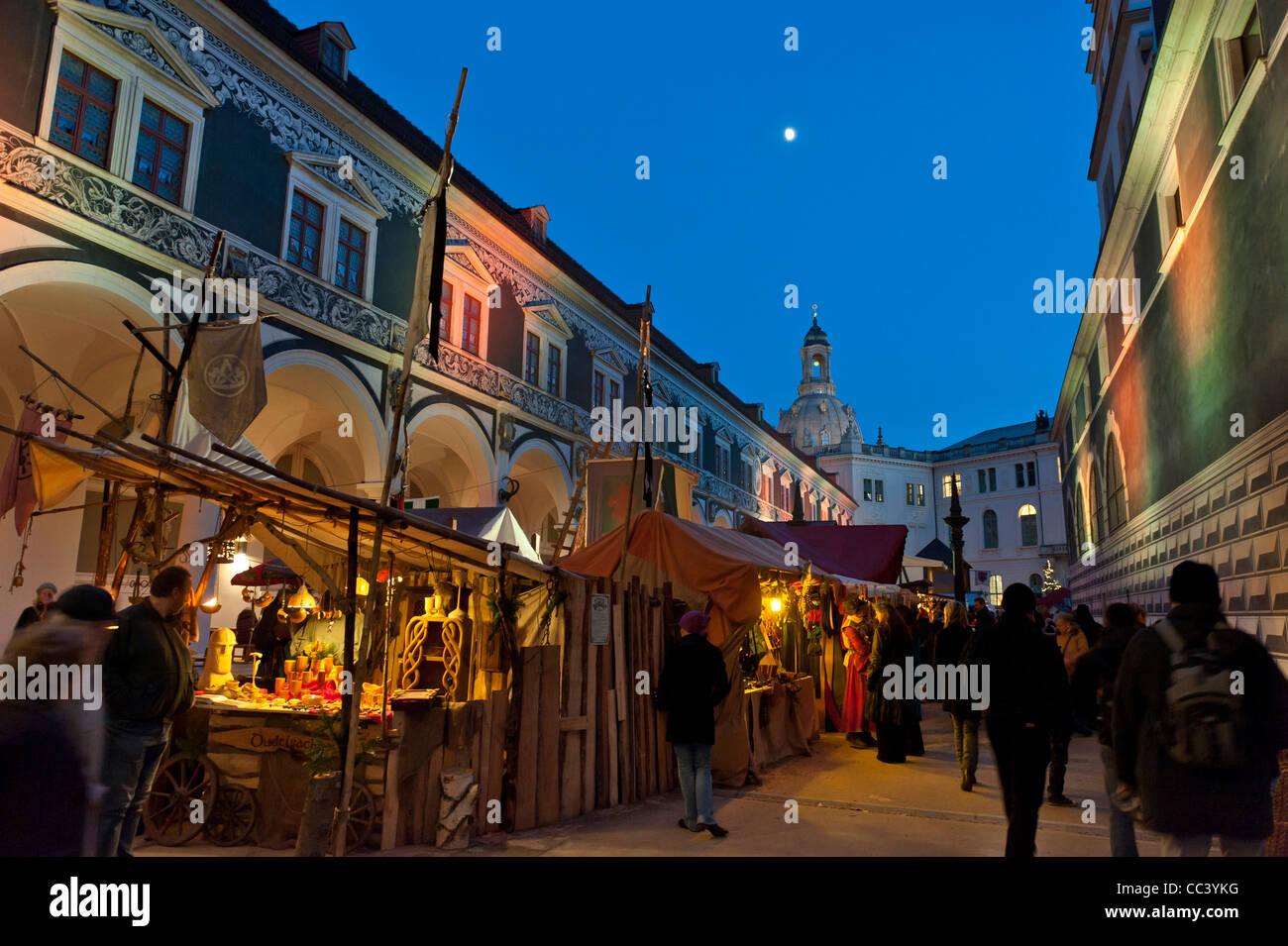 Christmas market in Dresden. Saxony, Germany, Europe - Stock Image