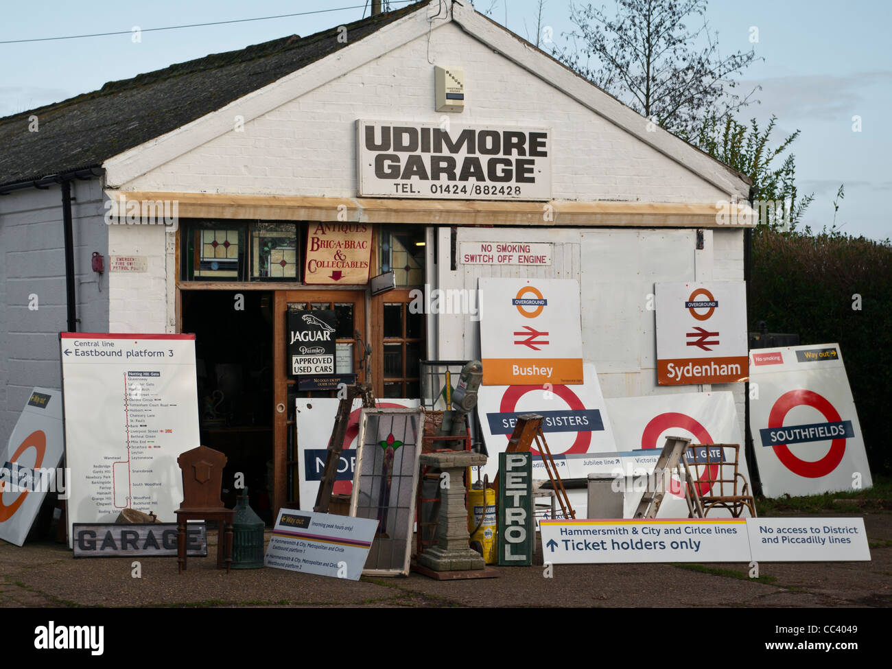 Exterior Of An Antique Bric-A-Brac And Collectables Shop - Stock Image