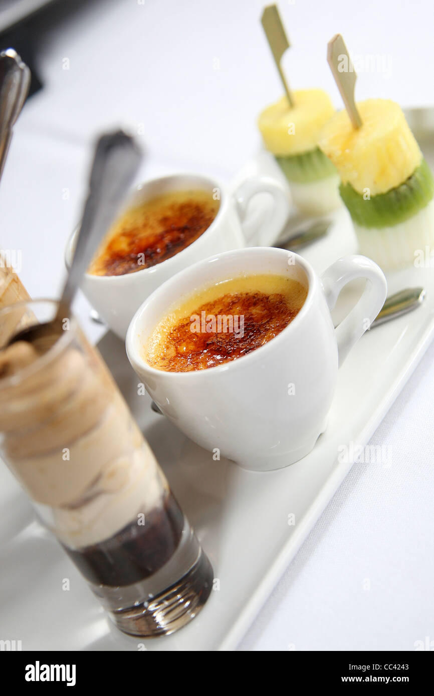 Small Deserts On A Tray - Stock Image