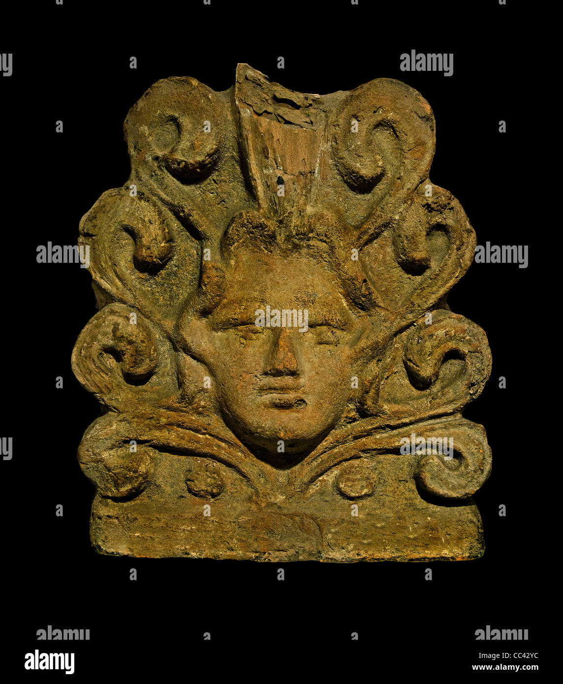 Gods demons monsters Terracotta Veii temple Apollo Portonaccio Etruscan Italy Etruria 600 - 450 BC - Stock Image