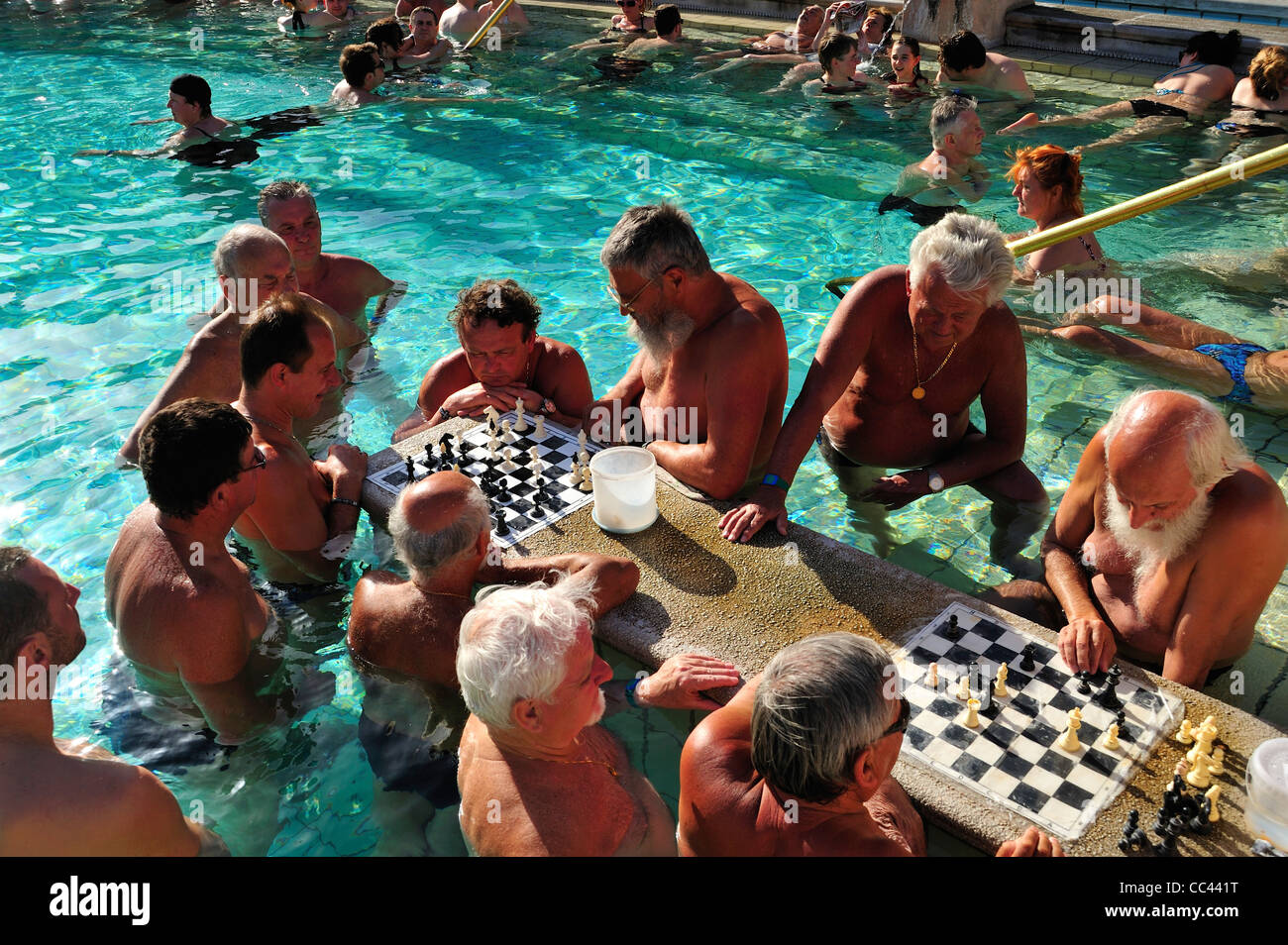 Szechenyi Thermal Bath, Budapest, Hungary - Stock Image