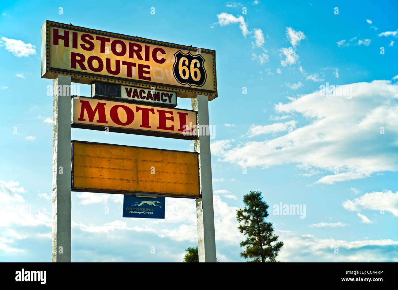Old motel signs along route 40 the old route 66, New Mexico - Stock Image
