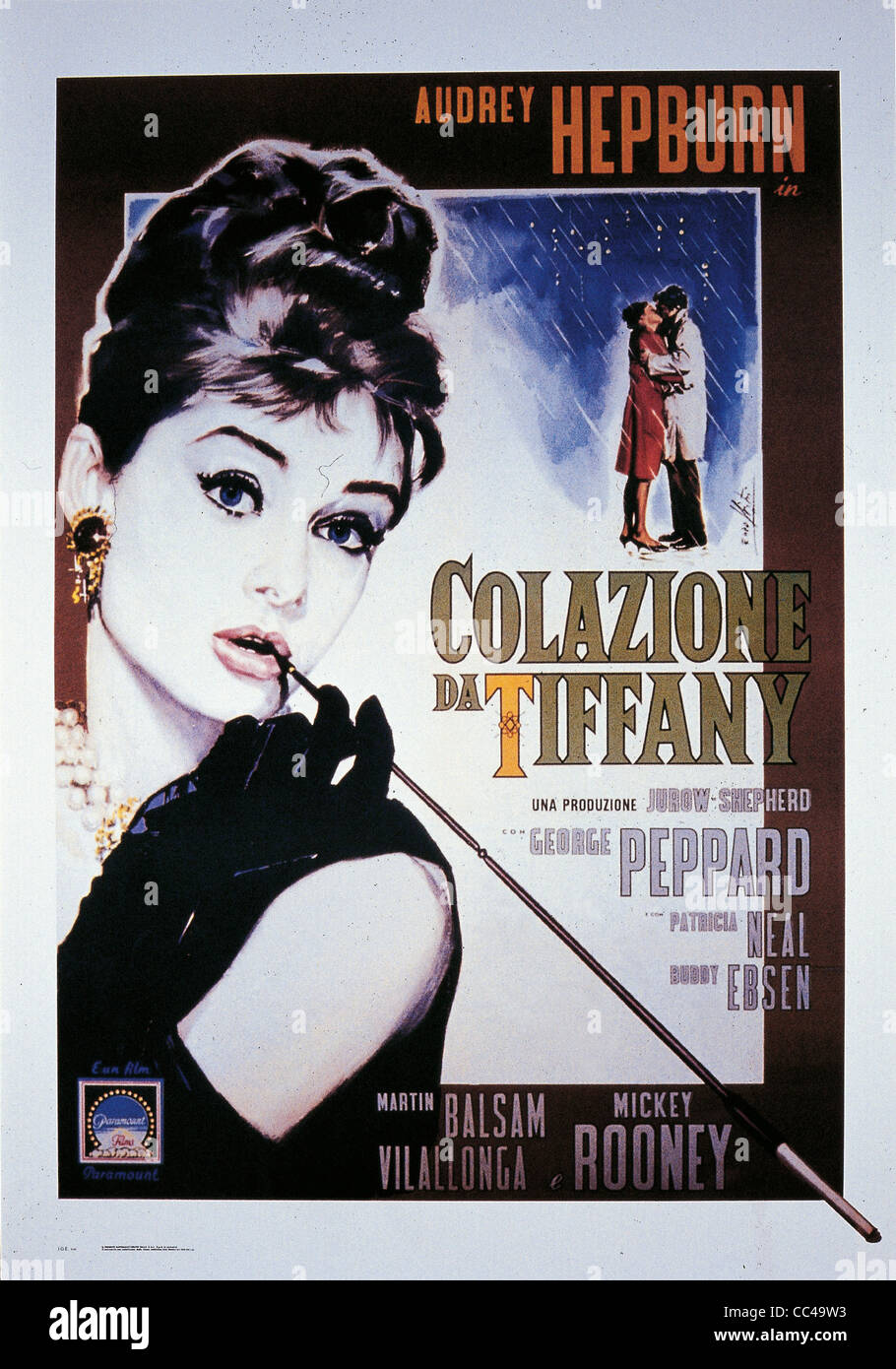 Cinema: Breakfast At Tiffany's Poster 1961 Directed By Blake Edwards - Stock Image