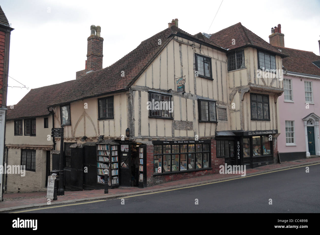 The Fifteenth Century Bookshop in Lewes, East Sussex, UK. - Stock Image