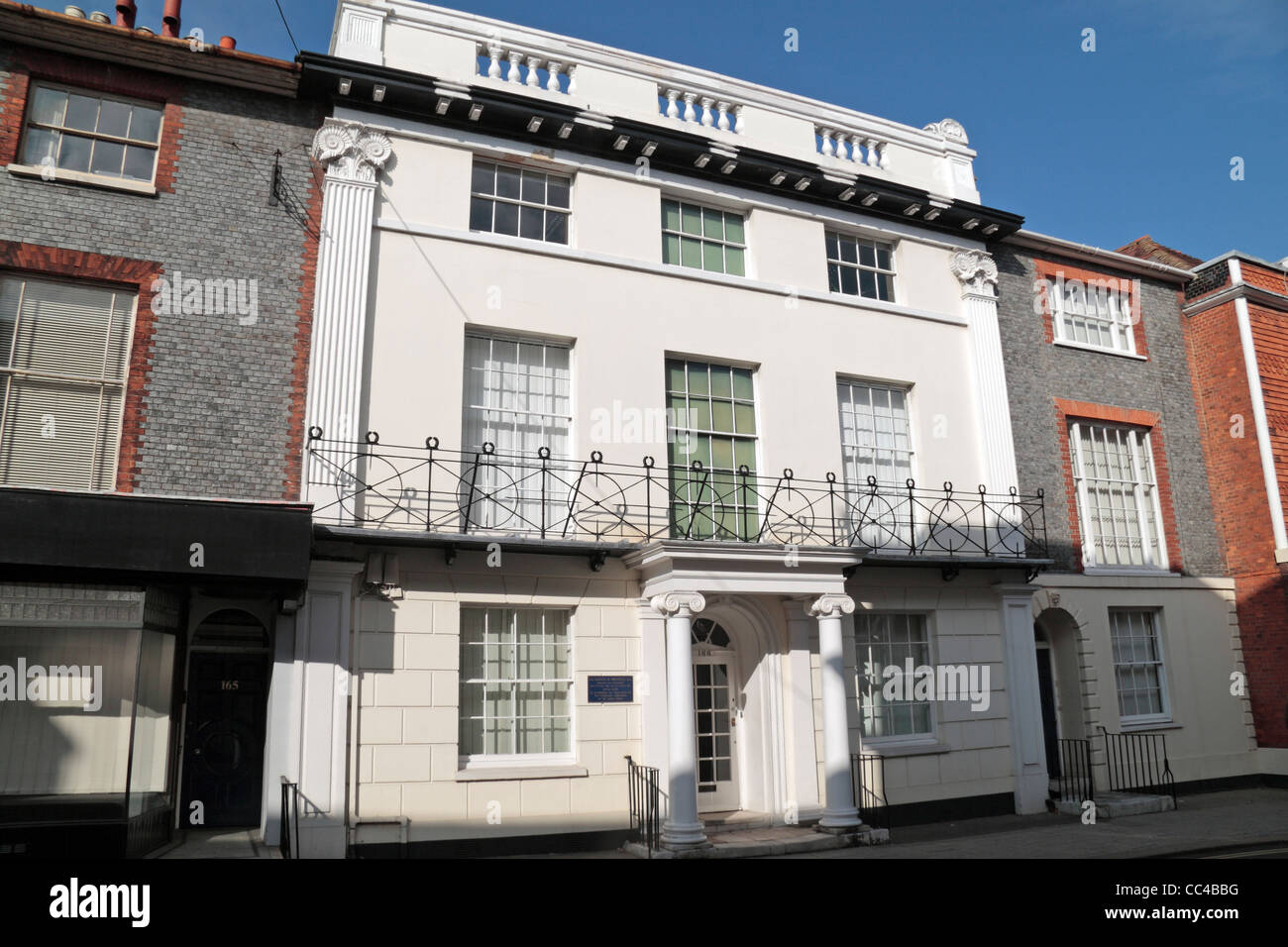 The former home of Dr Gideon A Mantell, a surgeon and geologist in Lewes, East Sussex, UK. (see notes) - Stock Image