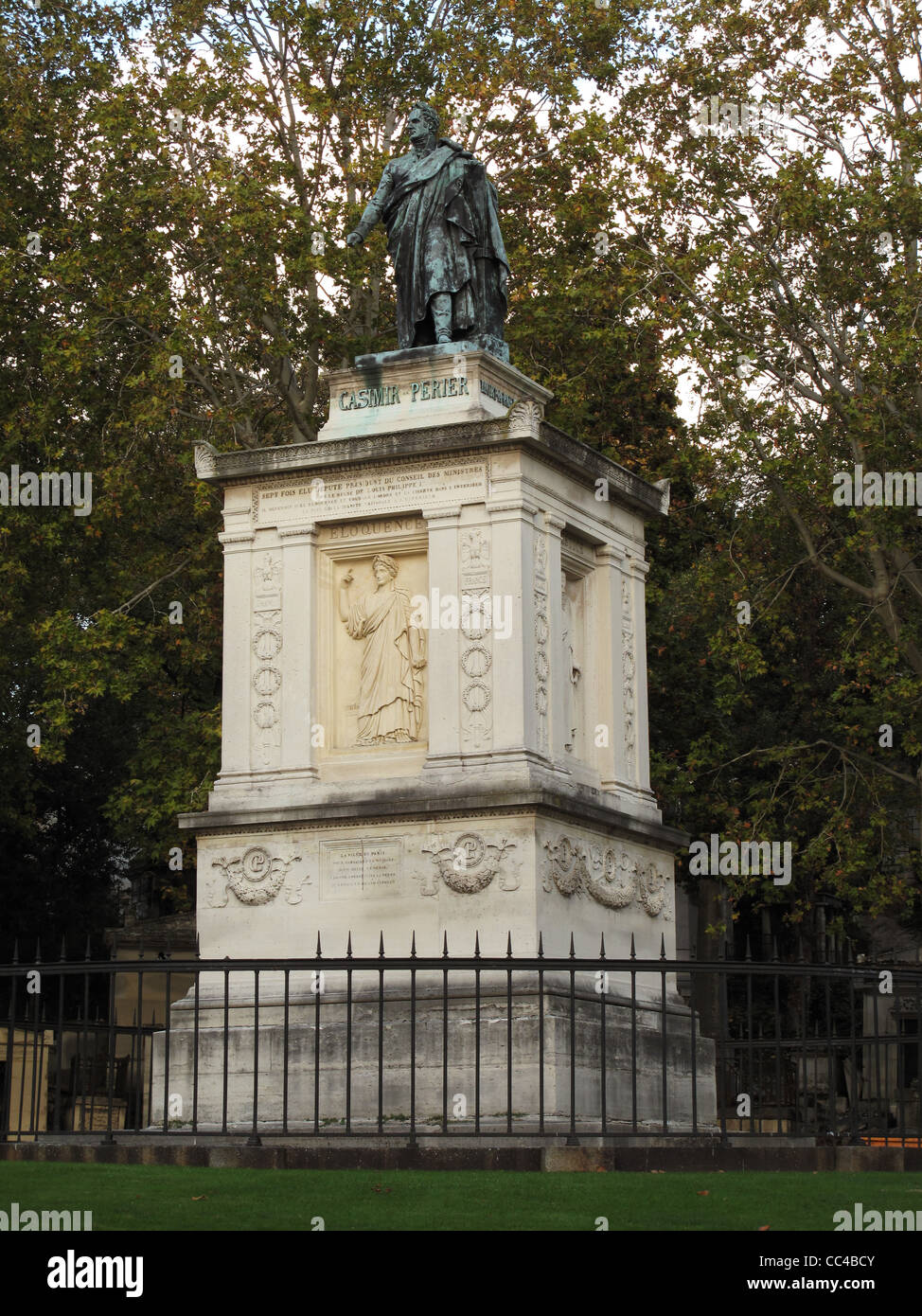 Pere-Lachaise, cemetery, Paris, France, is the largest cemetery of Paris, grave of Casimir Perier french statesman - Stock Image