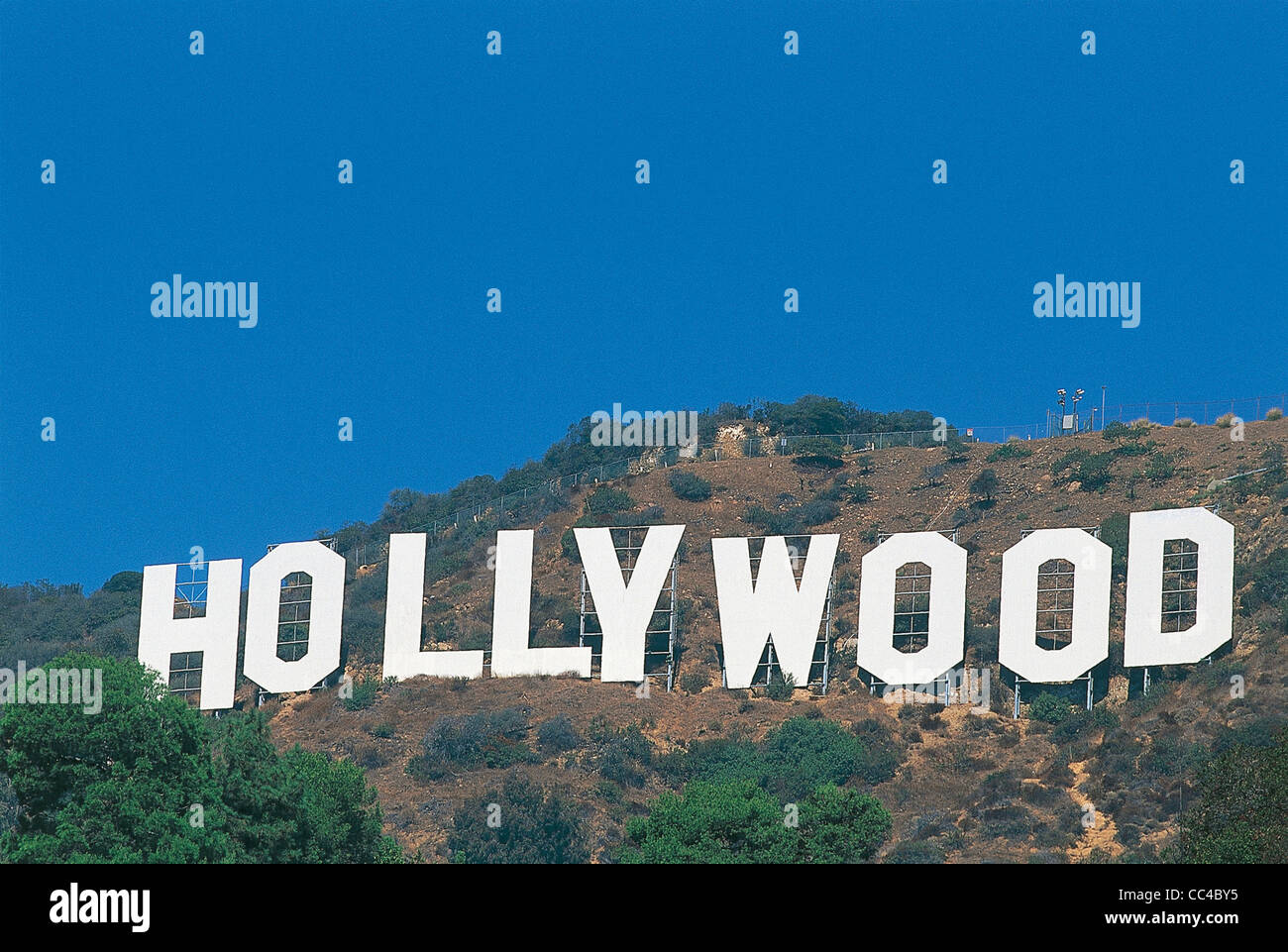 United States Of America California Los Angeles Hollywood Sign 1923 Written On The Great Hill