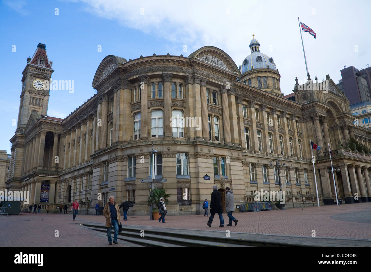 Birmingham West Midlands Art Gallery and Museum and Council House in Victoria Square - Stock Image