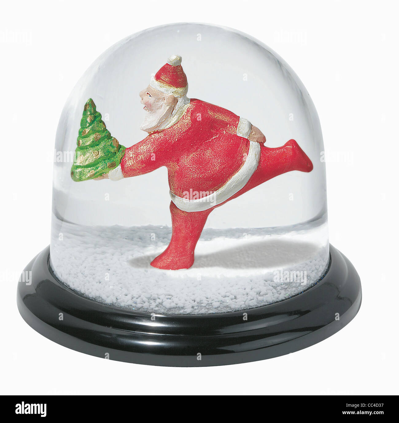 Collectibles - Snowglobe With Father Christmas. Koziol Company (Geschenkartikel, Erbach) - Stock Image