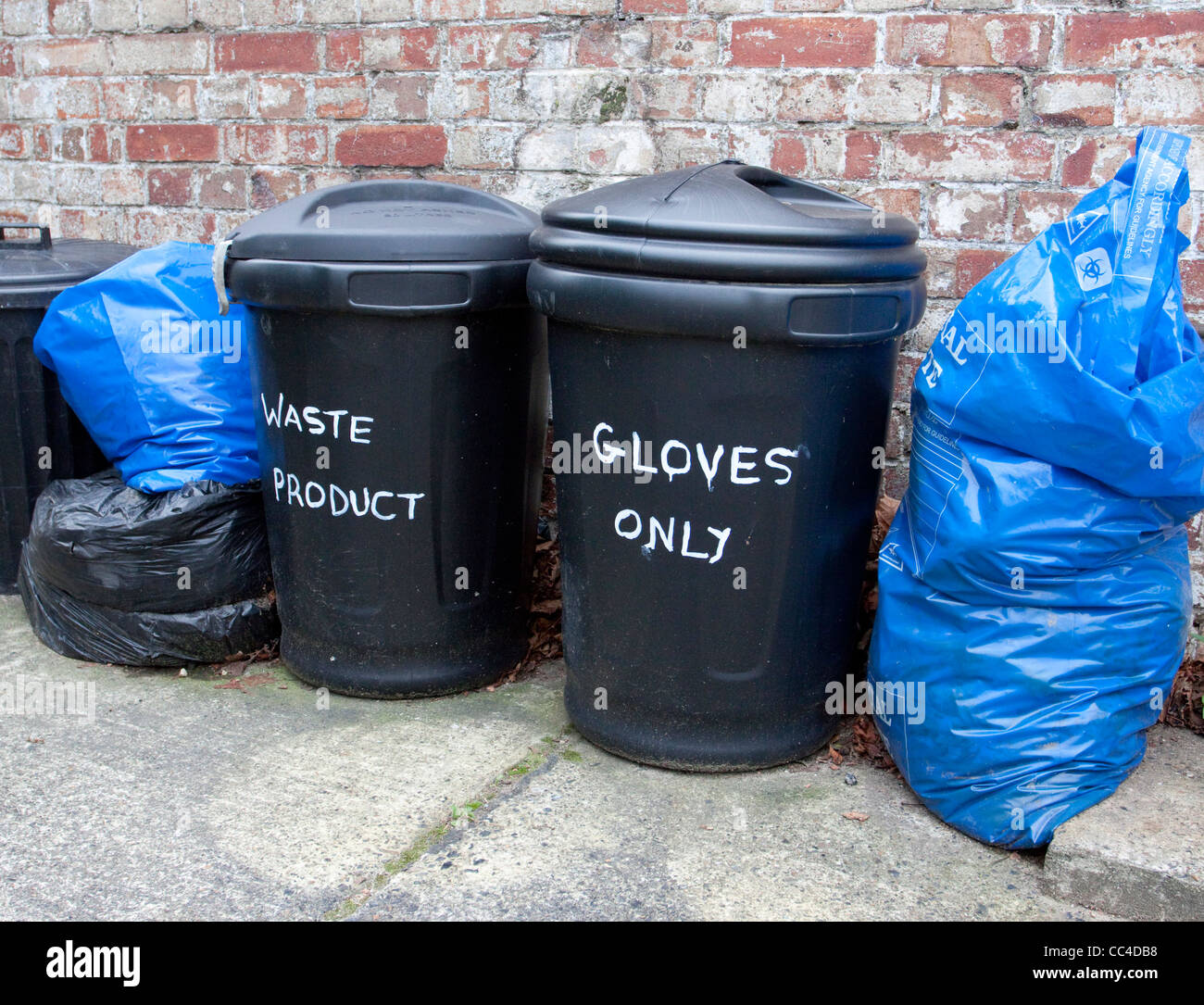 waste disposal contaminated products health and safetywaste disposal contaminated products health and safety environmental - Stock Image