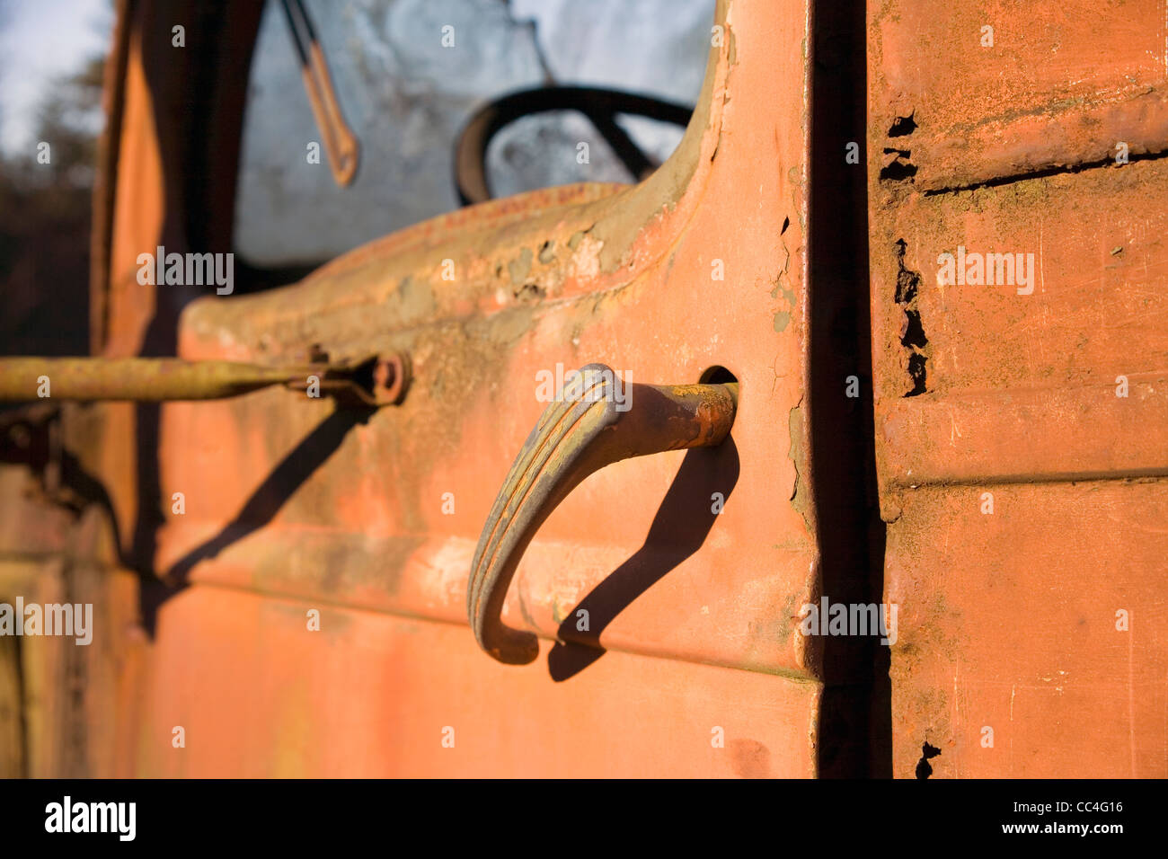 Rusty Door Handle - Stock Image