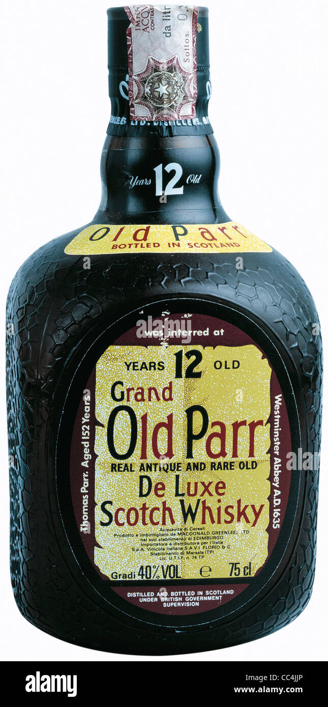 Wine And Spirits Spirits Grand Old Parr Scotch Whisky 12 Years - Stock Image
