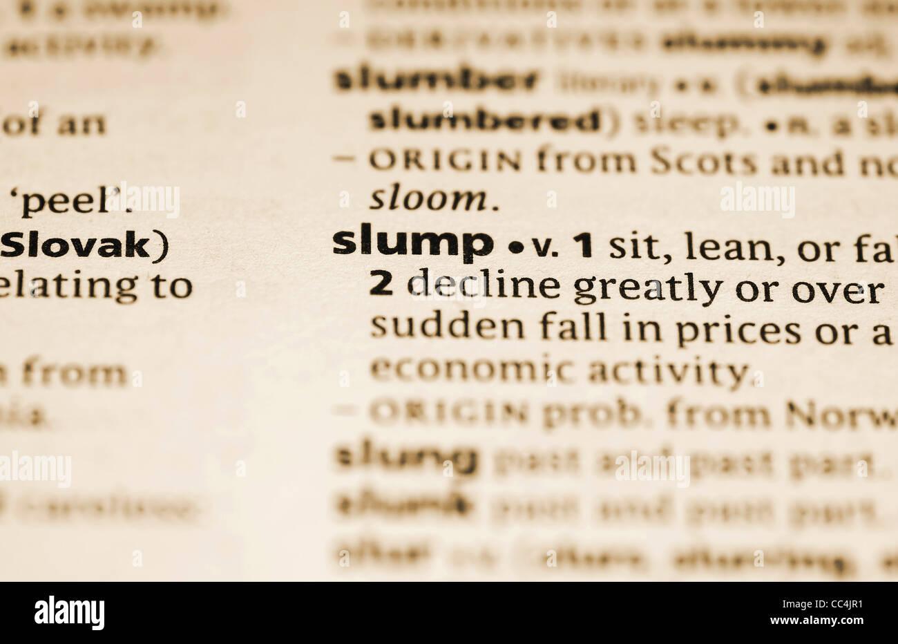 Financial slump - Stock Image