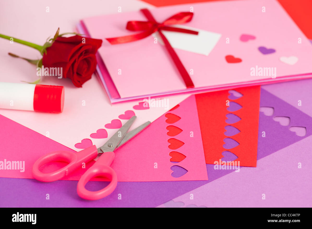 Valentines day card envelope stock photos valentines day card do it yourself valentine stock image solutioingenieria Image collections