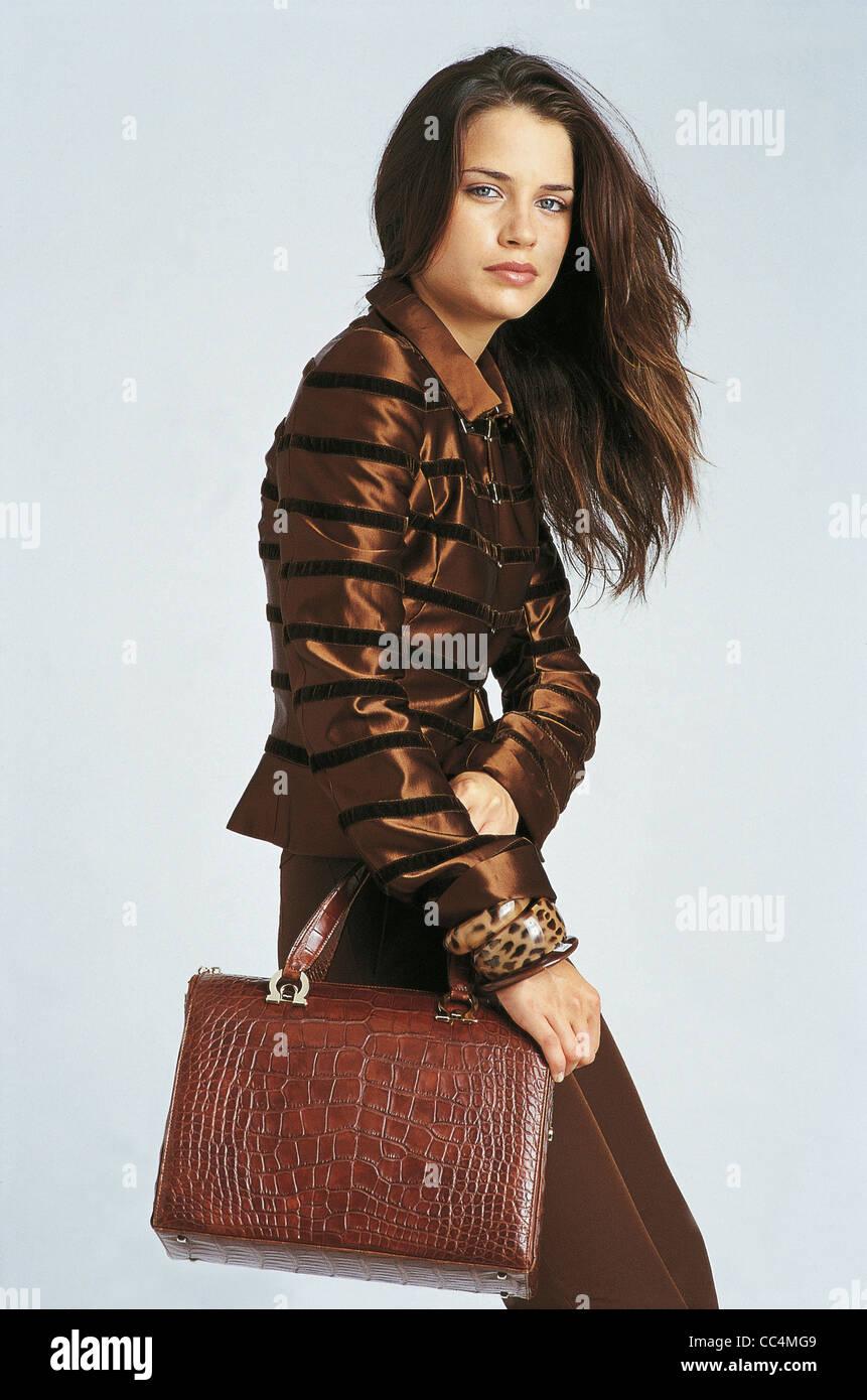 Accessories For Fashion Wear Bags Bag Ferragamo - Stock Image